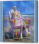 Sam Enjoys The Beach -- Again Acrylic Print