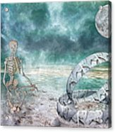 Sam Meditates With Time One Of Two Acrylic Print