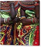Samburu Women Dancing Kenya Acrylic Print
