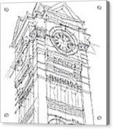 Samford Hall Sketch Acrylic Print