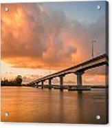 Samoa Bridge At Sunset Acrylic Print