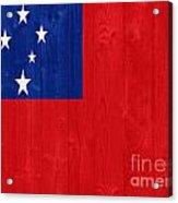 Samoa Flag Acrylic Print
