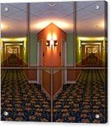 Sample Paneled Hallway Mirrored Image Acrylic Print