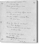 Samuel Taylor Coleridge (1772-1834) Acrylic Print