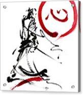 Samurai Enso Circle Wild Fury Bushi Bushido Martial Arts Sumi-e  Acrylic Print