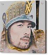 Samurai Ichiro Acrylic Print by Bas Van Sloten