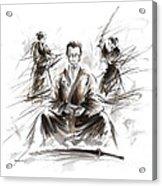 Samurai Meditation. Acrylic Print