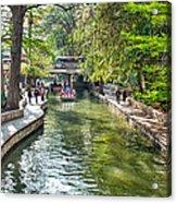 San Antonio River Walk In Spring Acrylic Print