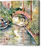 San Antonio Riverwalk Acrylic Print