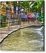 San Antonio Riverwalk Slomo Acrylic Print
