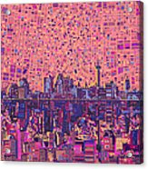 San Antonio Skyline Abstract 5 Acrylic Print