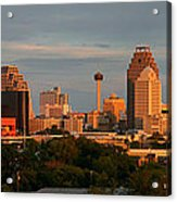San Antonio - Skyline At Sunset Acrylic Print