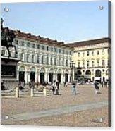 San Carlo Square In Turin Acrylic Print