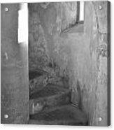 San Christobal Staircase- Black And White Acrylic Print