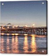 San Clemente Pier At Night Acrylic Print by Richard Cheski