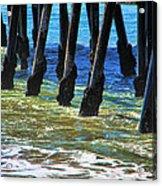 San Clemente Pier Acrylic Print by Mariola Bitner