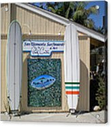 San Clemente Surfboards Acrylic Print