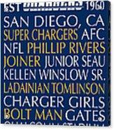 San Diego Chargers Acrylic Print