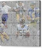 San Diego Chargers Legends Acrylic Print