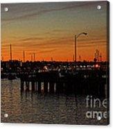 San Diego Harbor Sunset Acrylic Print