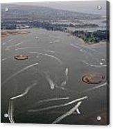 San Diego Mission Bay Water Aerial Acrylic Print