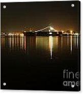 San Diego Navy Harbor Night Acrylic Print