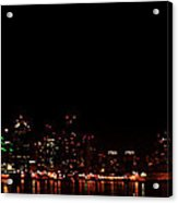 San Diego Night Skyline Acrylic Print
