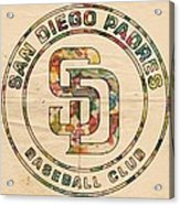 San Diego Padres Logo Art Acrylic Print
