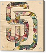 San Diego Padres Logo Vintage Acrylic Print