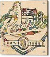San Diego Padres Memorabilia Acrylic Print