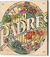 San Diego Padres Poster Art Acrylic Print
