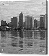 San Diego Skyline Sunrise Monochrome Acrylic Print