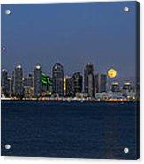 San Diego Super Moon Acrylic Print