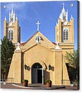 San Felipe Church - Old Town Albuquerque   Acrylic Print