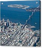 San Francisco Bay Bridge Aerial Photograph Acrylic Print