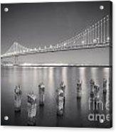 San Francisco Bay Bridge Acrylic Print by Colin and Linda McKie