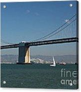 San Francisco Bay Bridge West Span Vii Acrylic Print by Suzanne Gaff