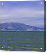 San Francisco Bay Golden Gate Bridge    Alcatraz Panorama Acrylic Print