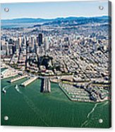 San Francisco Bay Piers Aloft Acrylic Print