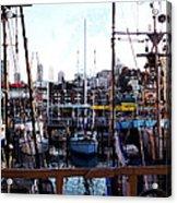 San Francisco Behind The Masts Acrylic Print