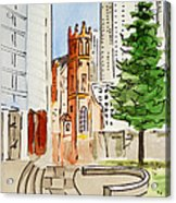 San Francisco - California Sketchbook Project Acrylic Print