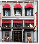 San Francisco Cartier Storefront - 5d20567 Acrylic Print by Wingsdomain Art and Photography