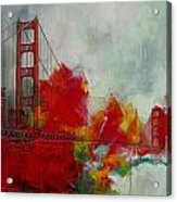 San Francisco City Collage Acrylic Print