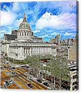 San Francisco City Hall 5d22507 Photoart Acrylic Print
