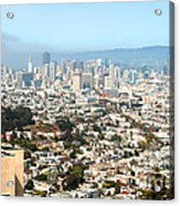 San Francisco City Vista Acrylic Print by Artist and Photographer Laura Wrede