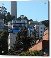 San Francisco Coit Tower At Levis Plaza 5d26192 Acrylic Print