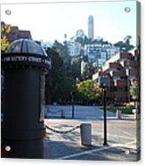 San Francisco Coit Tower At Levis Plaza 5d26213 Acrylic Print by Wingsdomain Art and Photography