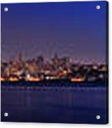 San Francisco Dusk Panorama Acrylic Print