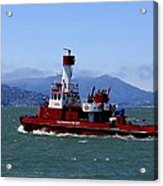 San Francisco Fire Department Fire Boat Acrylic Print