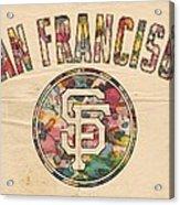 San Francisco Giants Logo Vintage Acrylic Print